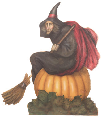 Halloween Witch Decorations CG5157  Witch With Broom