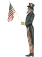Uncle Sam With Flag - Boardwalk Originals Patriotic Fourth Of July Decoration & Display